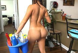 imagen El culo de infarto de una limpiadora latina