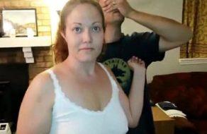 imagen Esposa gordita disfruta con otro rabo mientras la graba su marido