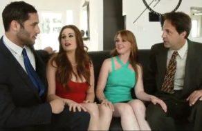 Esposas insatisfechas se intercambian los maridos para follar a saco