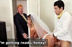 Madura ninfómana follada por su hijastro en el día de su boda