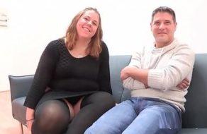 imagen Gordita española graba su primera escena de sexo amateur follando con su pareja